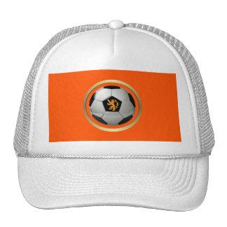 Netherlands Soccer Ball,Dutch Lion on Orange Mesh Hat