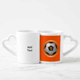 Netherlands Soccer Ball,Dutch Lion on Orange Lovers Mug