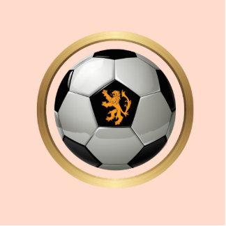 Netherlands Soccer Ball,Dutch Lion on Orange Photo Sculpture
