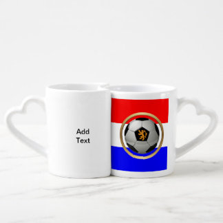Netherlands Soccer Ball with Dutch Lion Lovers Mug