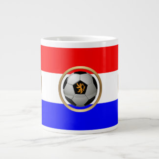 Netherlands Soccer Ball with Dutch Lion 20 Oz Large Ceramic Coffee Mug