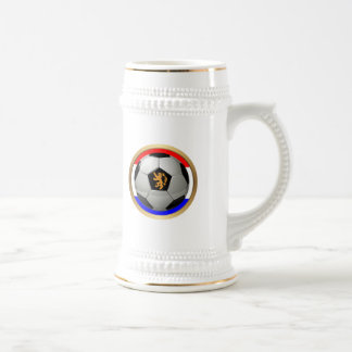 Netherlands Soccer Ball with Dutch Lion Beer Steins