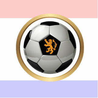 Netherlands Soccer Ball with Dutch Lion Photo Cut Out
