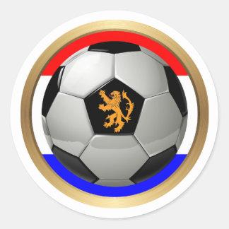 Netherlands Soccer Ball with Dutch Lion Round Sticker