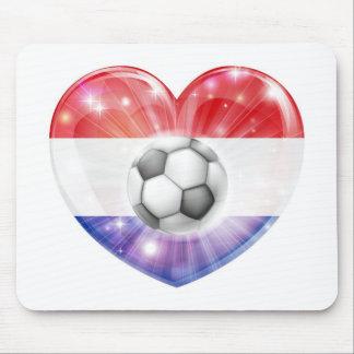 Netherlands soccer heart flag mousepads