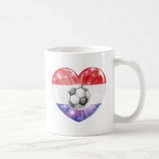 Netherlands soccer heart flag mugs
