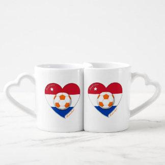 Netherlands soccer NEDERLAND national soccer team Lovers Mug Set