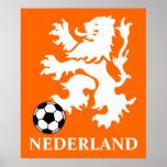 Netherlands Soccer Poster