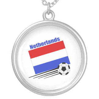 Netherlands Soccer Team Silver Plated Necklace