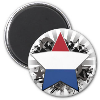 Netherlands Star Fridge Magnet