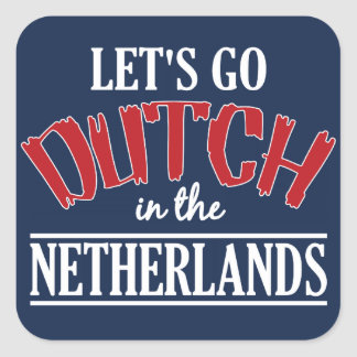 Netherlands stickers, large square sticker