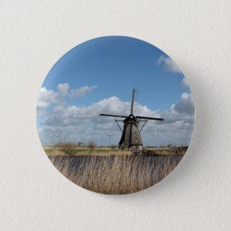 Netherlands views. 6 cm round badge