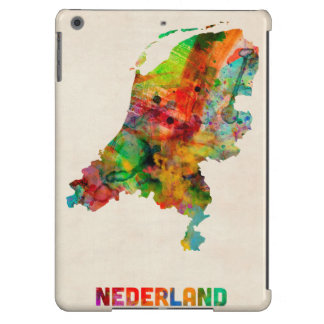 Netherlands Watercolor Map Cover For iPad Air