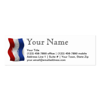 Netherlands Waving Flag Double-Sided Mini Business Cards (Pack Of 20)