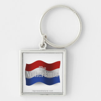 Netherlands Waving Flag Key Chain