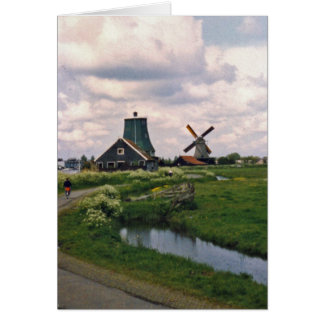 Netherlands Windmill Card