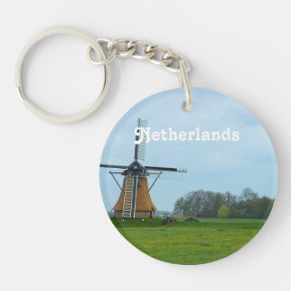 Netherlands Windmill Keychain