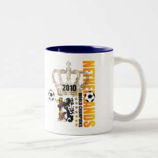 Netherlands World Champion Kings of Voetbal Two-Tone Coffee Mug