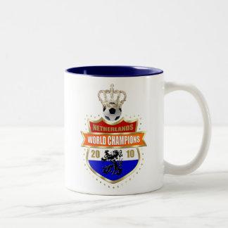 Netherlands World Champions 2010 badge Two-Tone Coffee Mug