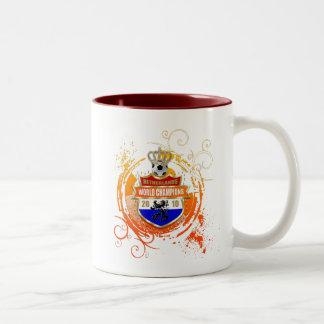 Netherlands world champions grunge Two-Tone coffee mug