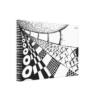 Nets of Tummy Gallery Wrap Canvas