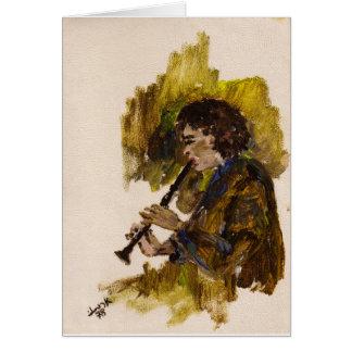 Netta on the clarinet card