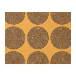 Netted Circle Pattern orange purpel Wood Print
