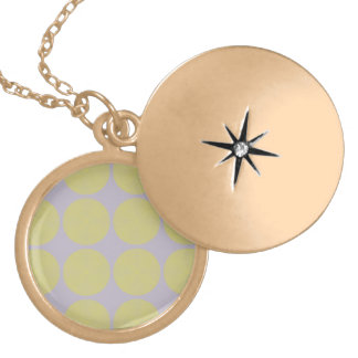 Netted Circle Pattern tan Round Locket Necklace