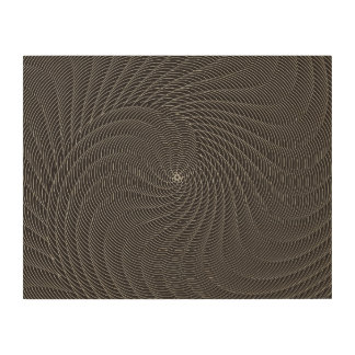 Netted Pattern bk white Wood Canvas