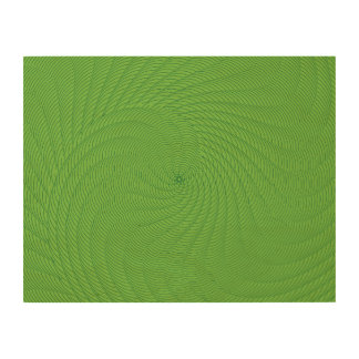 Netted Pattern green. Wood Canvas