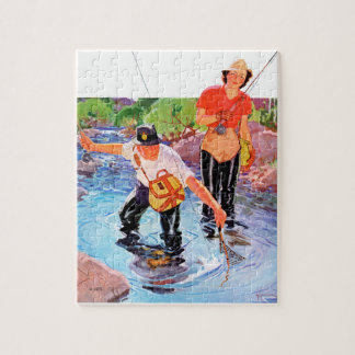 Netting A Fish by R.J. Cavaliere Jigsaw Puzzle