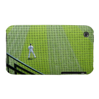 Netting with baseball player on green grass. iPhone 3 covers