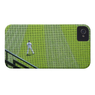 Netting with baseball player on green grass. Case-Mate iPhone 4 cases