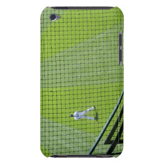 Netting with baseball player on green grass. iPod touch cover