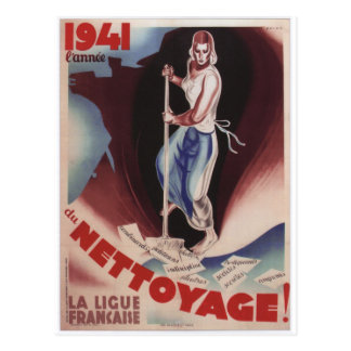 Nettoyage Propaganda Poster Postcard
