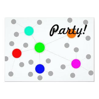 Network 13 Cm X 18 Cm Invitation Card