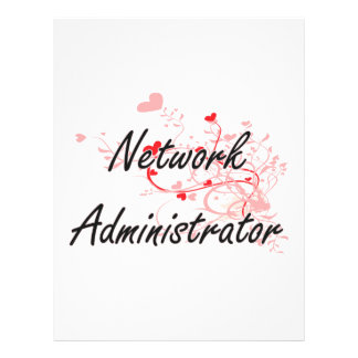 Network Administrator Artistic Job Design with Hea 21.5 Cm X 28 Cm Flyer
