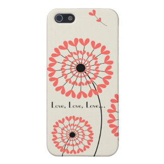 Network dandelions heart-shaped petals Iphone 5 ma Case For iPhone 5/5S