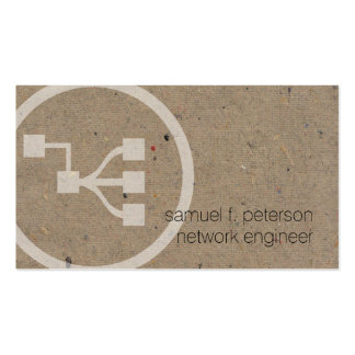 Network Engineer Network Points Icon Natural Paper Pack Of Standard Business Cards