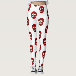 Network skulls leggings