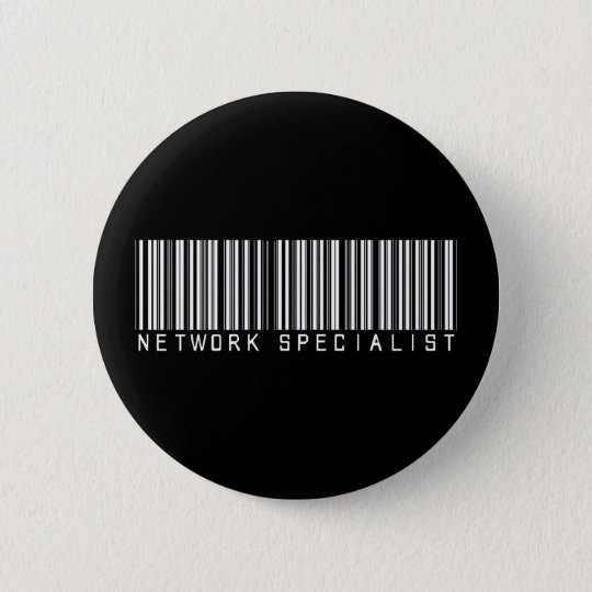 Network Specialist Bar Code 6 Cm Round Badge
