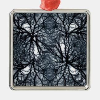 Networking Silver-Colored Square Decoration