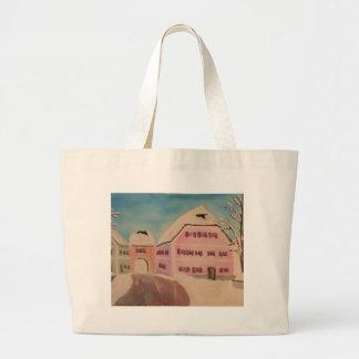 Neubeuern-Pfarrhaus im Winter Jumbo Tote Bag
