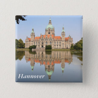 Neues Rathaus in Hannover 15 Cm Square Badge