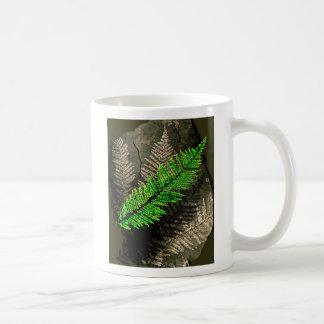 neuratt frond, neuratt fern tree carboniferous coffee mug