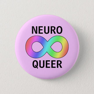 neuro queer 6 cm round badge