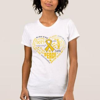 Neuroblastoma Awareness Heart Words Shirts