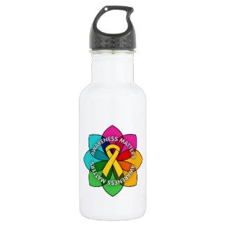 Neuroblastoma Awareness Matters Petals 532 Ml Water Bottle