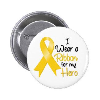 Neuroblastoma Cancer I Wear a Ribbon For My Hero Button