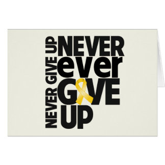 Neuroblastoma Cancer Never Ever Give Up Greeting Card